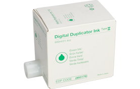 savin Type II Green Digital Duplicator Ink Box - 893176