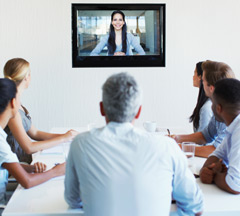 Photo of video conferencing.