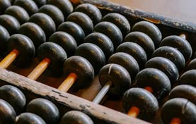 close up image of an abacus