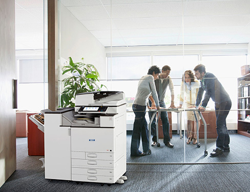 Office with Savin printer.