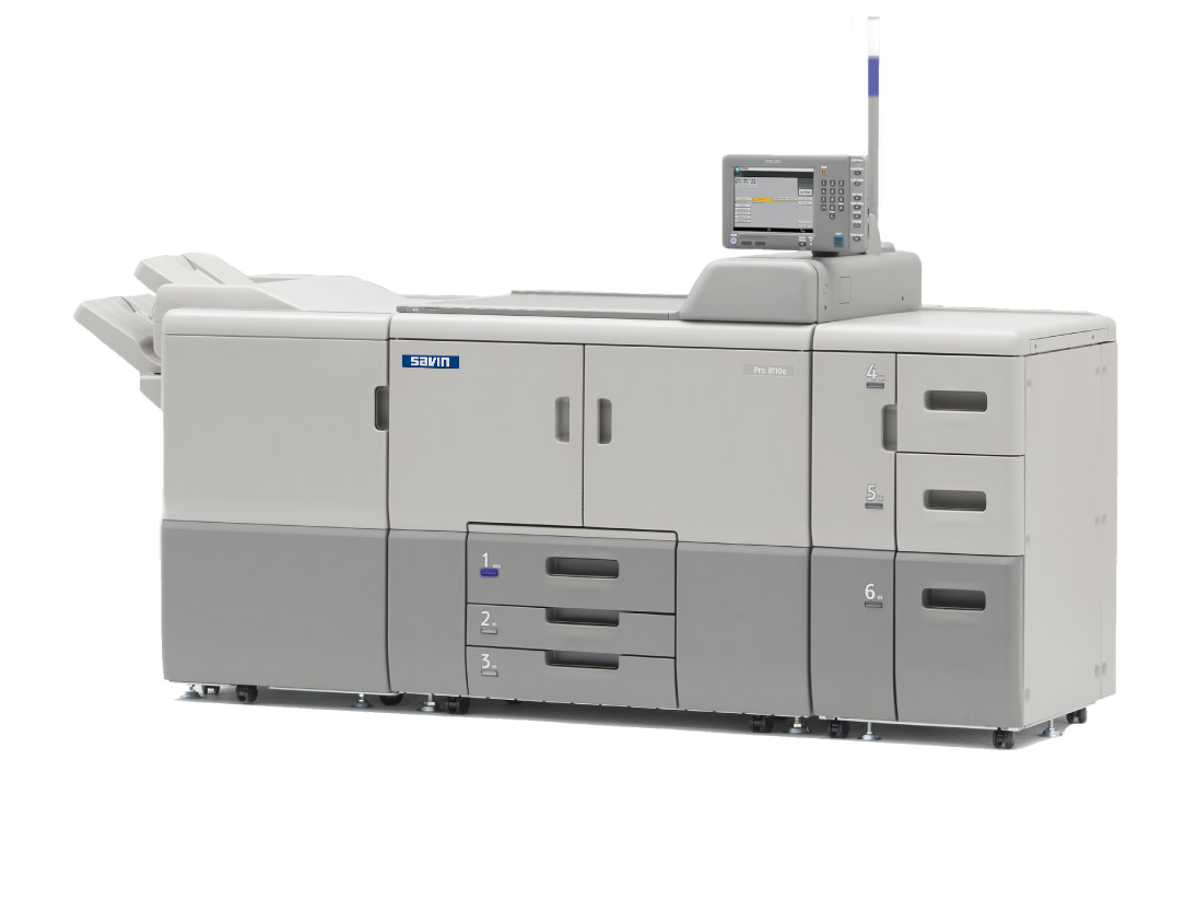 Photo of the Savin Pro 8110e printer.