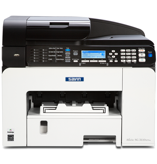 savin SG 3110SFNw Color GELJET™ Multifunction Inkjet Printer